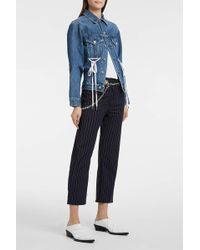 Miaou - Tommy Pinstriped Stretch-wool Trousers - Lyst