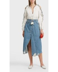 Current/Elliott | Recrafted Denim Skirt | Lyst