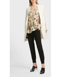 Theory - Floral Print Silk Top - Lyst