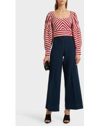 Rachel Comey - Formentera Cropped Striped Cotton Top - Lyst