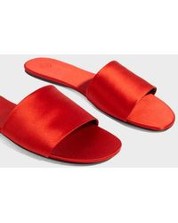 The Row - Ellen Satin Slides - Lyst