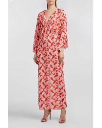 Borgo De Nor - Elsa Floral-print Crepe De Chine Dress - Lyst