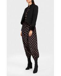 Vilshenko - Loyla Floral-print Swiss-dot Cotton And Silk-blend Playsuit - Lyst