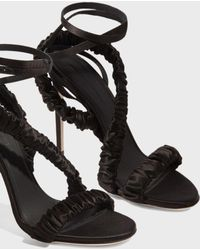 Marco De Vincenzo - Ruched Strap Sandals - Lyst