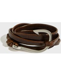 Miansai - Hook On Leather Bracelet, Size Os, Men, Brown - Lyst