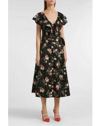 Rebecca Taylor - Floral-print Cotton Midi Dress, Size Us8, Women - Lyst