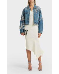 Oscar de la Renta - Sequin-embellished Denim Jacket - Lyst