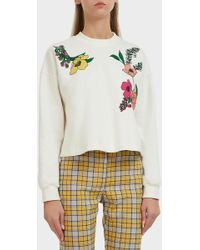 Vivetta - Printed Stretch-cotton Sweatshirt - Lyst
