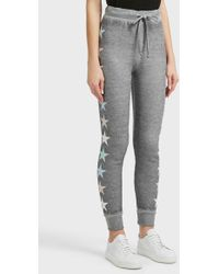Wildfox - Starlight Cotton-blend Jogging Trousers, Size Xs, Women, Grey - Lyst