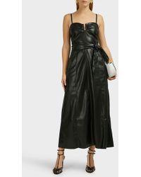 Nanushka - Anja Strapless Leather Dress - Lyst
