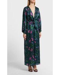 Borgo De Nor - Drape Detail Cotton And Silk-blend Dress - Lyst