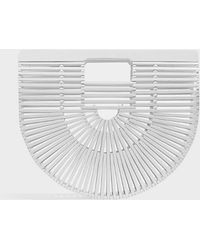 Cult Gaia - Ark Small Bamboo Clutch, Size Os, Women, White - Lyst