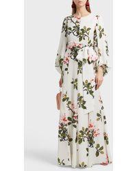 Andrew Gn - Rose Print Dress, Size Fr46, Women - Lyst