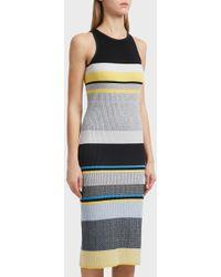 Victoria, Victoria Beckham - Racer Back Wool-blend Dress, Uk10 - Lyst