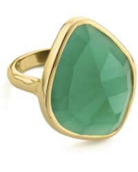 Monica Vinader - Gp Siren Nugget Cocktail Ring - Green Onyx - Lyst