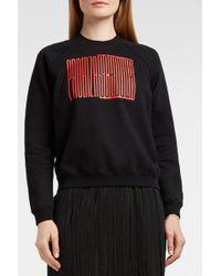 Proenza Schouler - Pswl Printed Cotton-jersey Sweatshirt - Lyst