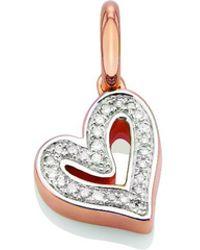 Monica Vinader - Rose Gold Vermeil Alphabet Heart Pendant, Os - Lyst
