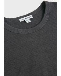 James Perse - Striped Cotton-blend T-shirt - Lyst