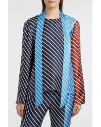 Tibi - Delphina Striped Silk-twill Top, Size S, Women - Lyst