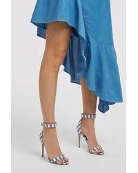 Monse - Striped Canvas Sandals, Size It39, Women, Stripes - Lyst