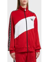 MSGM - Diadora Logo Cotton-blend Jacket, Size It48, Women, Red - Lyst