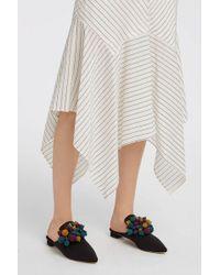 Sanayi 313 - Palline Embellished Faille Slippers - Lyst