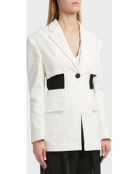 Proenza Schouler - One Button Jacket, Size Us4, Women, White - Lyst