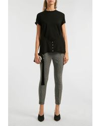 Alexander Wang - Houndstooth Tweed Skinny Trousers, Us2 - Lyst