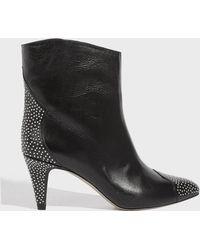 Isabel Marant - Stud-embellished Mid-heel Boots - Lyst