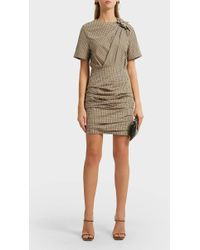 Étoile Isabel Marant - Oria Checked Cotton Mini Dress - Lyst