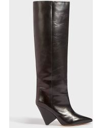Isabel Marant - Lokyo Leather Knee Boots - Lyst