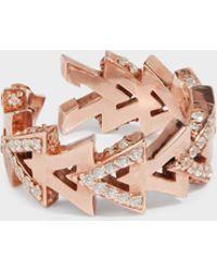 Maha Lozi - Camden Rose Gold-plated Crystal Ring - Lyst