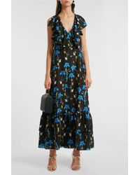 Borgo De Nor - Carlotta Ruffled Printed Crepe De Chine Maxi Dress - Lyst