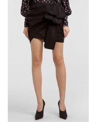 Magda Butrym - Sofia Ruffled Silk-satin Mini Skirt - Lyst