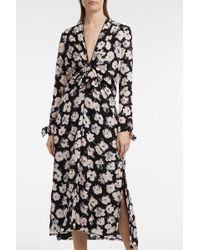 Proenza Schouler - Floral-print Silk-georgette Dress - Lyst