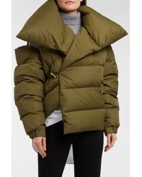 Marques'Almeida - Quilted Shell Down Jacket, Size Xs, Women, Green - Lyst