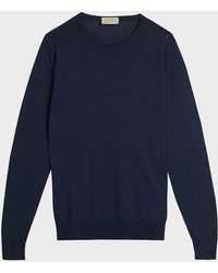 John Smedley - Theon Cotton And Cashmere-blend Jumper - Lyst