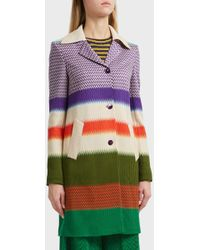 Missoni - Colour Block Wool-blend Coat, Size It40, Women - Lyst