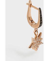 Diane Kordas - Rose Gold & Diamond Explosion Earring, Os - Lyst