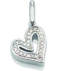 Monica Vinader - Alphabet Heart Pendant, Size Os, Women, Silver - Lyst