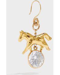 Sonia Boyajian - Horse Gold-tone Cubic Zirconia Earring, Size Os, Women - Lyst