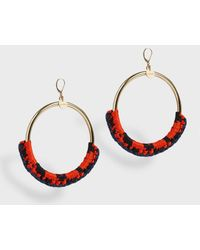 Missoni - Woven Large Hoops - Lyst