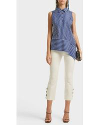 10 Crosby Derek Lam - Cropped Stretch-cotton Flared Trousers - Lyst