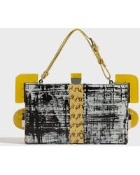 Tonya Hawkes - Chelsea Snake-trimmed Leather Clutch, Size Os, Women - Lyst
