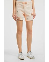 Wildfox - Embroidered Cotton Shorts, Size S, Women, Pink - Lyst