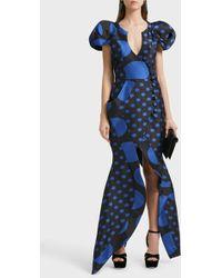 Ronald Van Der Kemp - Sculptural Silk-blend Wrap Gown, Size Fr42, Women - Lyst
