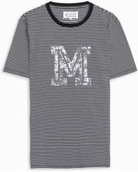 Maison Margiela - Striped T-shirt - Lyst