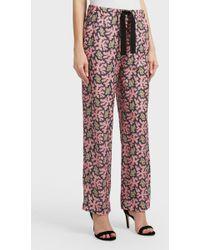 Victoria, Victoria Beckham - Printed Pyjama Trousers, Uk6 - Lyst