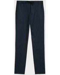 Cuisse De Grenouille - Faitar Pinstripe Wool-blend Straight-leg Trousers - Lyst