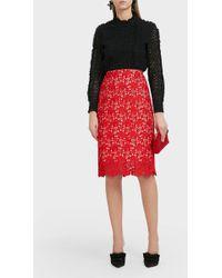 Paul & Joe - Floral Lace Skirt - Lyst